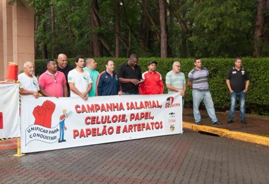 Sindicatos Papeleiros participantes da Campanha Salarial realizaram paralisação